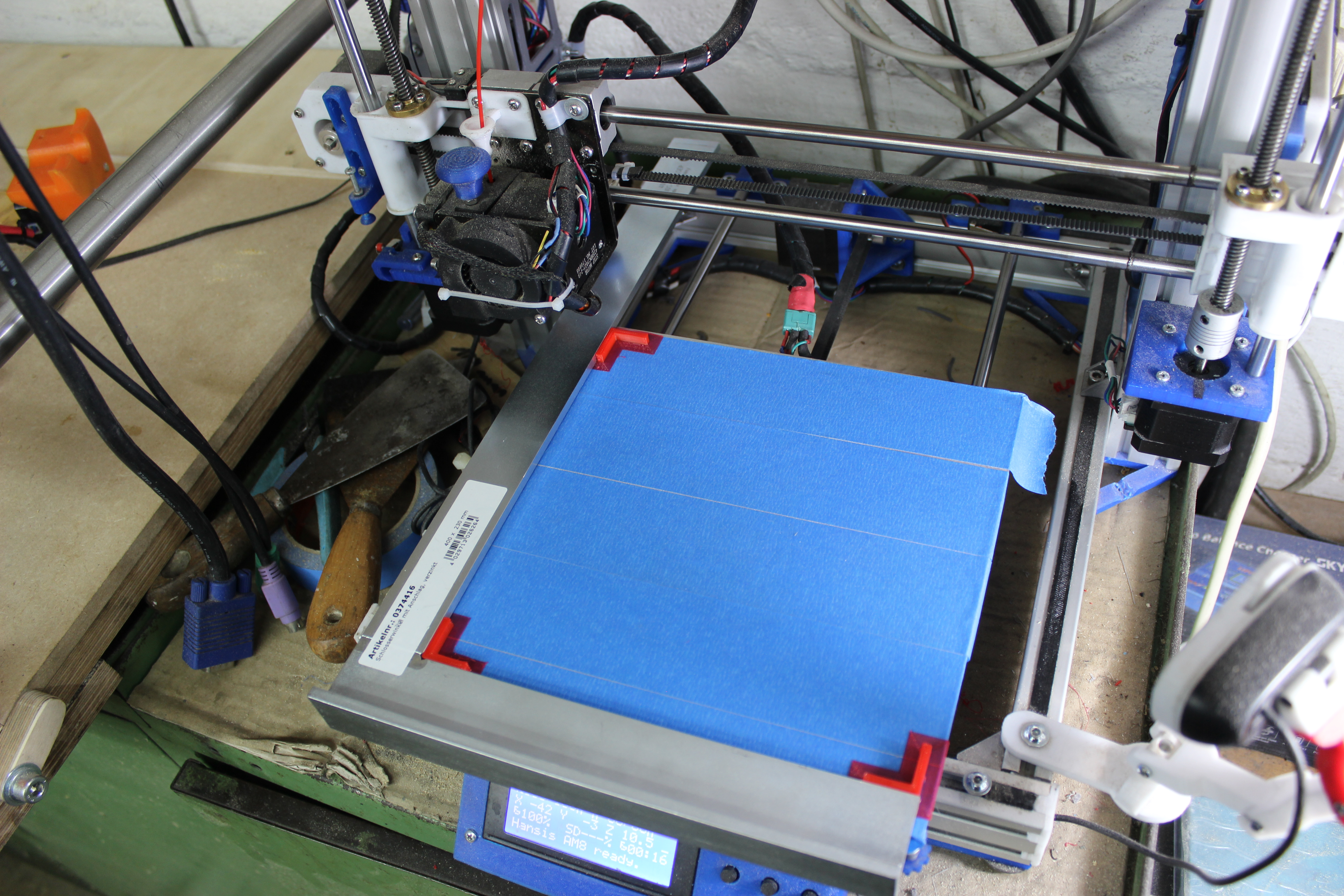 checking if the 3d-printer prints perpendicular